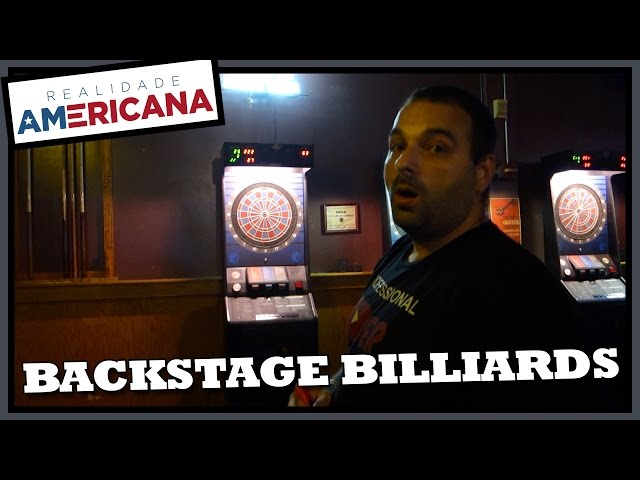 BAR DE SINUCA, DARDOS, PEBOLIM NOS ESTADOS UNIDOS – Backstage Billiards