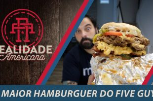 COMEMOS O MAIOR HAMBURGUER DO FIVE GUYS